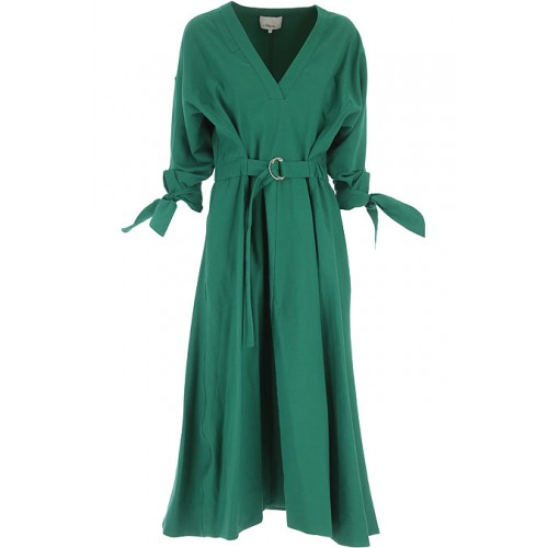 3.1 PHILLIP LIM Women Dresses Green Formal 55% Cotton, 45% Polyester Clearance UBSMQ4796